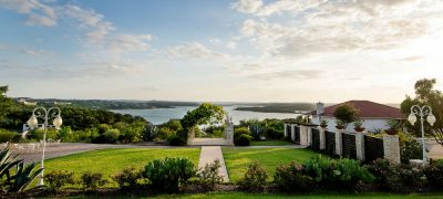 Vintage Villas Outdoor Ceremony Site Overlooking Lake Travis